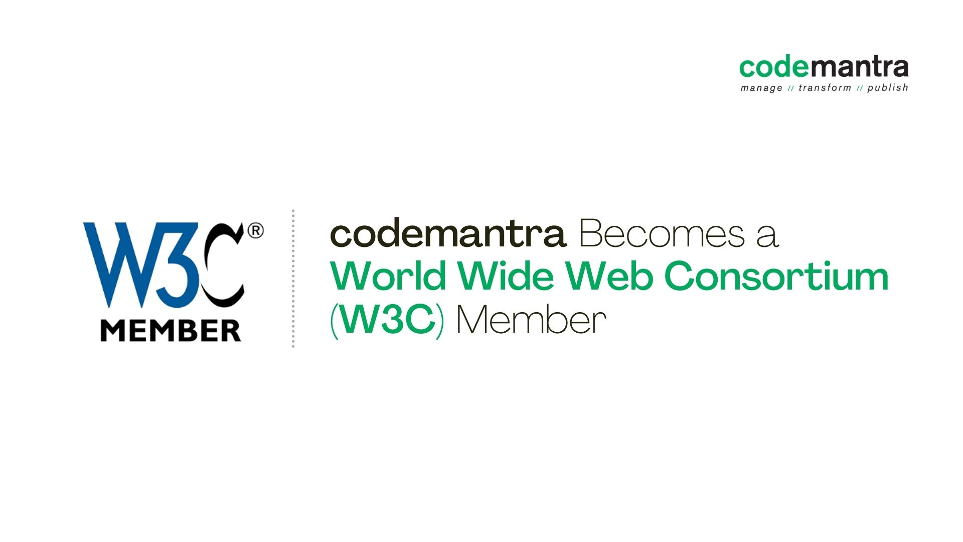 codemantra is now w3c member